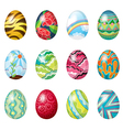 A dozen of colorful easter eggs vector | Price: 1 Credit (USD $1)