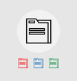 a set of folder icons vector image vector image