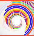 abstract background of colorful circles with lines vector image vector image