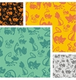 Cats and kittens - seamless pattern set vector image vector image