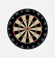 Classic dartboard isolated on white background vector image vector image