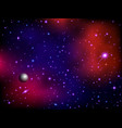 colorful space galaxy background with planet and vector image vector image