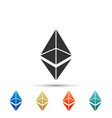 cryptocurrency coin ethereum eth icon isolated vector image vector image