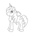 cute horse princess vector image vector image