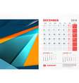 December 2016 Desk Calendar for 2016 Year vector image