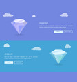 diamond and jewelry web posters set color banners vector image