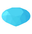 diamond icon isometric 3d style vector image vector image