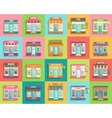 Different stores and shops icons set flat design vector image vector image