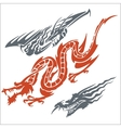 Dragons for tattoo set vector image vector image