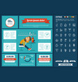 drink flat design infographic template vector image