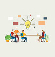 effective brainstorming concept with team on the vector image vector image