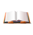 empty book on holder vector image vector image
