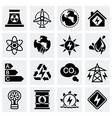 Energetics icon set vector image