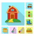 farm and agriculture symbol vector image vector image