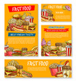 fast food restaurant sketch posters vector image vector image