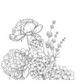 floral garland of lavender and hydrangea isolated vector image vector image