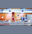 food blogger recording online video female chef vector image vector image