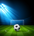 Football arena stadium with a soccer ball vector image vector image