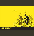 for world car free day awareness vector image