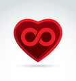 Forever love concept with heart and infinity vector image vector image
