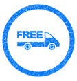 free delivery rounded grainy icon vector image vector image