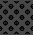 geometric seamless pattern with circles squares vector image vector image