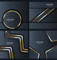 gold banner abstract background board for text vector image vector image