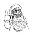 hand cartoon santa claus vector image vector image