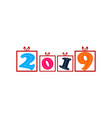 happy new year 2019 logo vector image vector image