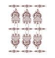 henna tattoo mehndi flower template vector image vector image