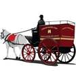 horse and carriage vector image vector image