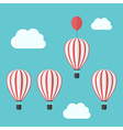 Hot air balloons competition vector image vector image
