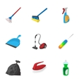 House cleaning icons set cartoon style vector image vector image