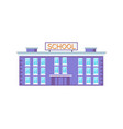 huge school building vector image vector image