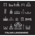 italian landmakrs editable line icons set vector image vector image