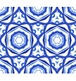 kaleidoscopic blue flower ornament vector image vector image