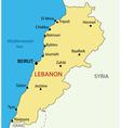 Lebanese Republic - Lebanon - map vector image