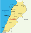 Lebanese Republic - Lebanon - map vector image vector image