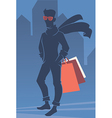 mans shopping vector image vector image