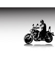motorcyclist riding vintage motorcycle sketch vector image vector image