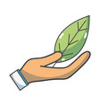 natural leaf to conservation the environment in vector image vector image