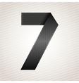 Number metal ribbon - 7 - seven vector image vector image