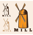 old mill vector image vector image
