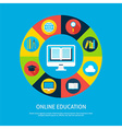 Online Education Flat Infographic Concept vector image