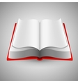 Open book on gray background vector image vector image