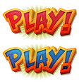 play icon for ui game vector image vector image