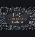 pub food and beer template vector image vector image
