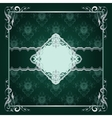 Royal frame green background vector image vector image