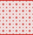 seamless christmas pattern with red snowflakes vector image vector image