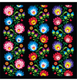 Seamless long Polish folk art pattern vector image